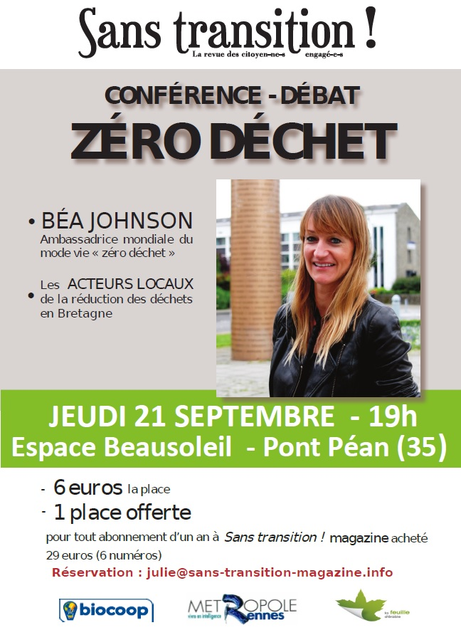 Image result for conférence Béa johnson 21 septembre 2017