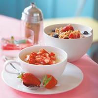 Porridge aux fruits rouges